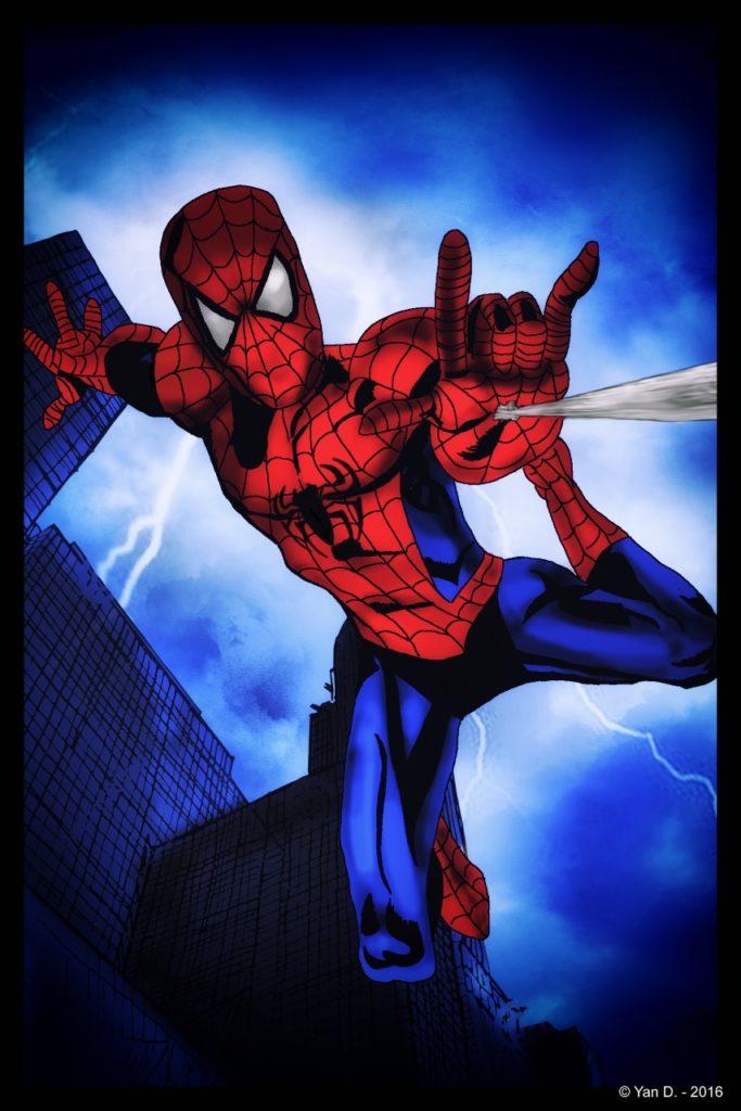 Spiderman en combat
